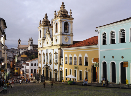 wishes bomfim chuch in the beautiful city of salvador in bahia state brazil