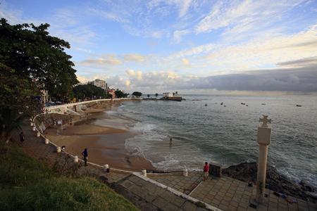 sunset in the beautiful city of salvador in bahia state brazil Banco de Imagens