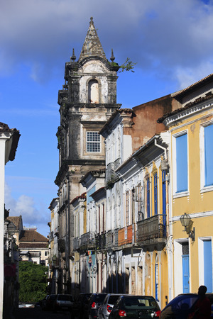 pelourinho area in the beautiful city of salvador in bahia state brazil 스톡 콘텐츠