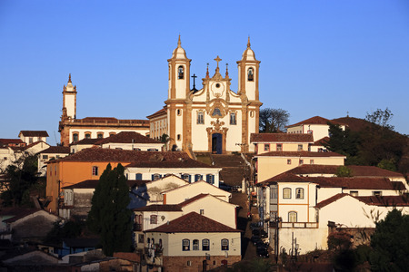 view of the igreja de nossa senhora do carmo , city of ouro preto in minas gerais brazil Stock Photo