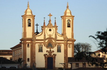 view of the igreja de nossa senhora do carmo, city of ouro preto in minas gerais brazil Фото со стока - 121743835