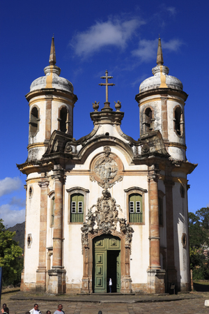 view of the Igreja de Sao Francisco de Assis ,city of ouro preto in minas gerais brazil Фото со стока - 121743841