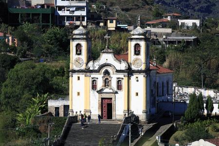 view of the Igreja de Santa Efigenia dos Pretos city of ouro preto in minas gerais brazil Фото со стока - 121743849