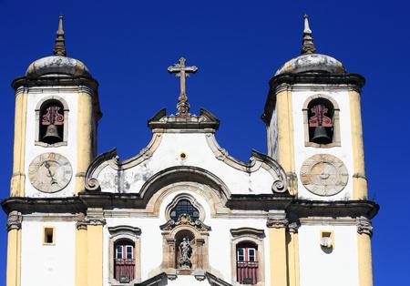 view of the Igreja de Santa Efigenia dos Pretos, city of ouro preto in minas gerais brazil Фото со стока - 121743854