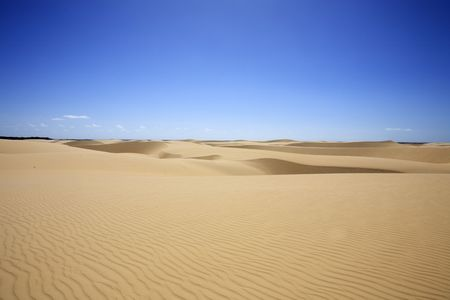 desert sand dunes of the Lencois Maranheses National Park