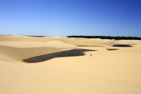 desert sand dunes of the Lencois Maranheses National Park