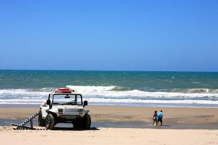 buggy tour and prainha beach near fortaleza in ceara state in brazil Stock Photo