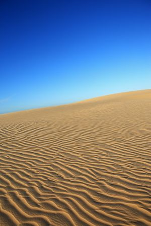 ripples of sand dune of cumbuco in ceara state brazil Stock Photo