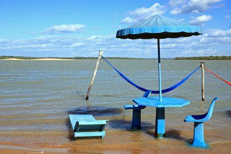 lagoon beach of tatajuba near jericoacoara in ceara state in brazil Фото со стока