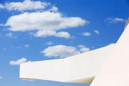 architecture detail of the futuristic national museum of brasilia city Stockfoto