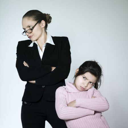 dissension: studio shot of a young woman having problem educate her child  LANG_EVOIMAGES