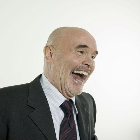studio portrait isolated on white background of a man senior Stock Photo - 3084004