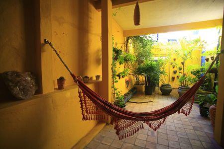 hammock in patio in the hotel in brazil\r