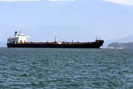 super tanker in ilha grande of state of rio de janeiro in angra dos reis in brazil Imagens
