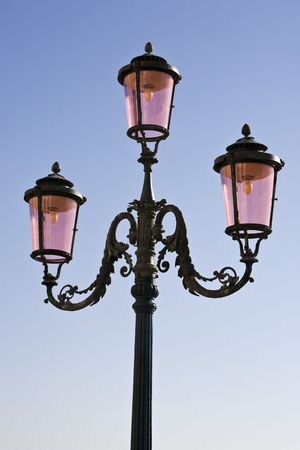 public lighting in the beautiful city of venice in italy Banque d'images - 121744534