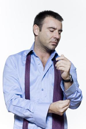 man expressive portrait on isolated white background Stock Photo - 3999627