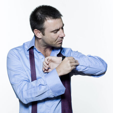 man expressive portrait on isolated white background Stock Photo - 3999622