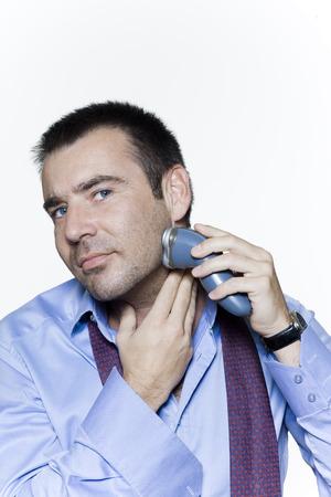 man expressive portrait on isolated white background Stock Photo - 3999628