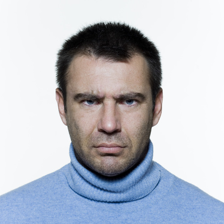 expressive portrait on isolated background of a handsome man, Stock Photo - 3999610