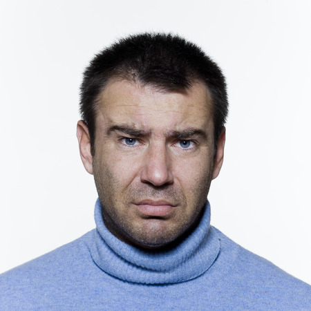 expressive portrait on isolated background of a handsome man, Stock Photo - 3999602