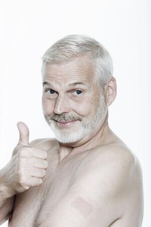 expressive d'un beau portrait de hauts homme isolé sur fond Banque d'images - 3999567
