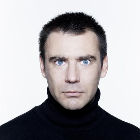 man expressive portrait on isolated white background Stock Photo - 3999664