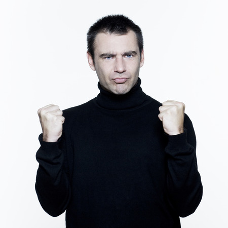 man expressive portrait on isolated white background Stock Photo - 3999707