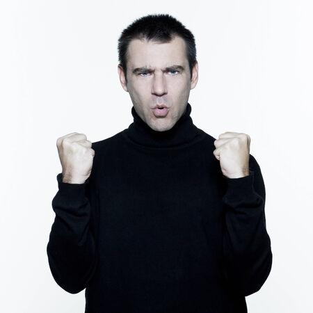 man expressive portrait on isolated white background Stock Photo - 3999723