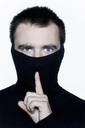 quiet adult: uomo espressivo ritratto isolato su sfondo bianco LANG_EVOIMAGES