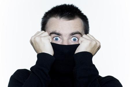 man expressive portrait on isolated white background Stock Photo - 3999661