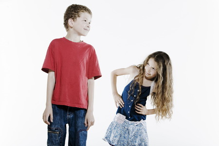 brother sister fight: Expressive Kids