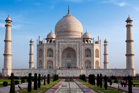 hinduismo: el Taj mahal agra uttar pradesh en india
