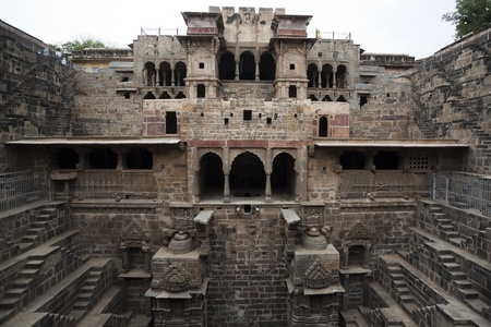 chand: the giant step well of abhaneri in rajasthan state in india