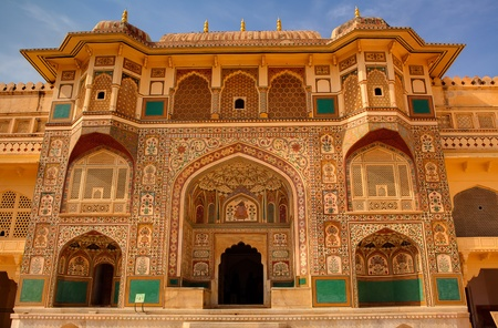 historic place: Amber Fort in jaipur in rajasthan state in india