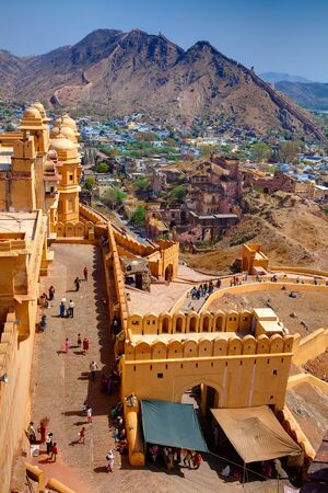 Amber Fort in jaipur in rajasthan state in indi Stock Photo - 9841280