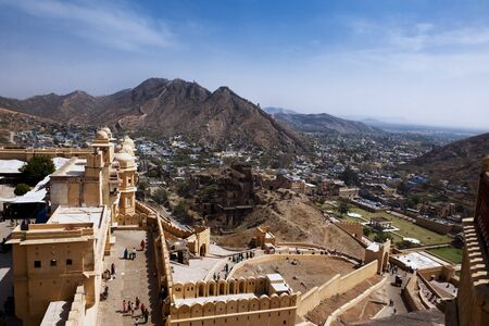 amber fort: Amber Fort in jaipur in rajasthan state in india