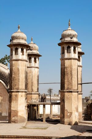 ancient well in nawalgarh city rajasthan state in india Stock Photo - 9823783