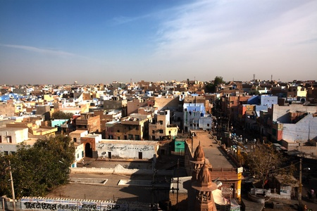 bikaner: aerial view of city of Bikaner rajasthan state in india