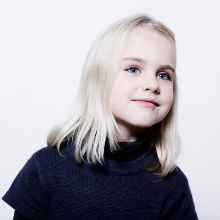 studio portrait of a caucasian cute litle gir Stock Photo - 9823630