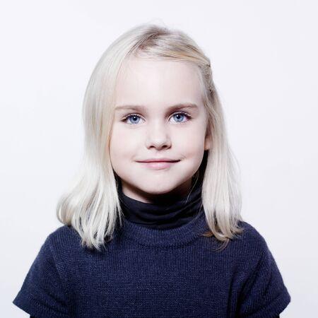 studio portrait of a caucasian cute litle gir Stock Photo - 9823699