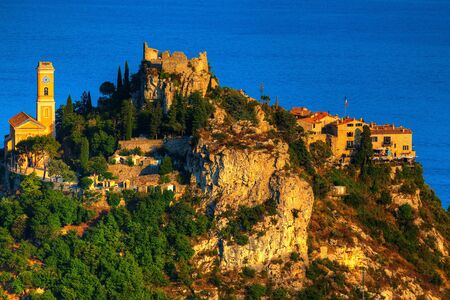 dazur: beautiful village of eze on the french riviera france  cote dazur