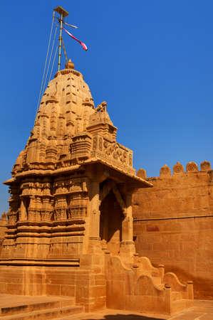 jain temple of lodruva jaisalmer in rajasthan state in indi Stock Photo - 9823834