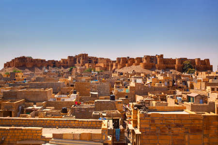 Jaisalmer City Fort in rajasthan state in indi Stock Photo - 9823844