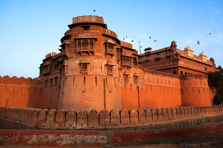 Junagarh Fort in city of Bikaner rajasthan state in india Stock Photo - 9823850