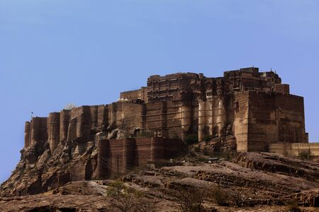 Meherangarh Fort in the beautiful city of jodhpur in rajasthan state in india Stock Photo - 9841262