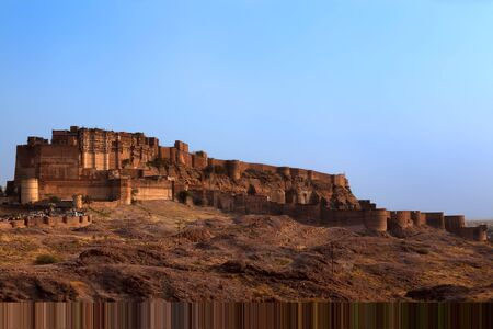 Meherangarh Fort in the beautiful city of jodhpur in rajasthan state in indi Stock Photo - 9823793