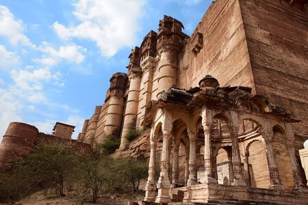 Meherangarh Fort in the beautiful city of jodhpur in rajasthan state in indi Stock Photo - 9841276