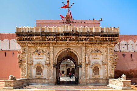 shri: shri karni mata temple in deshnoke near Bikaner rajasthan state in india