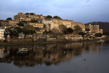 view of the lake of Udaipur in rajasthan state in india Stock Photo - 9823818