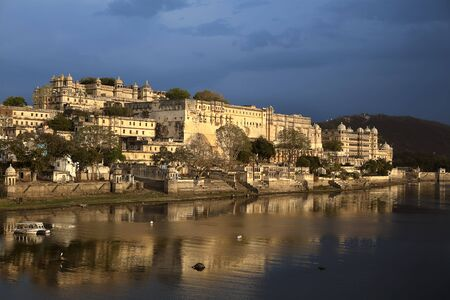 view of the lake of Udaipur in rajasthan state in india Stock Photo - 9841266